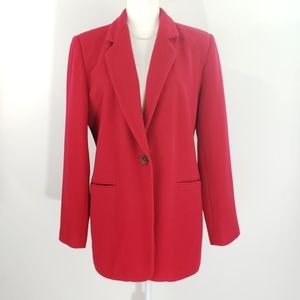 Harve Benard Red Wool Blend Blazer, size 12